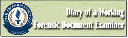 A Day In The Life Of A Forensic Document Examiner Usa S School Of Forensic Document Examination